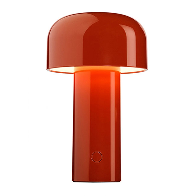 Lampe rechargeable Lampe de table Flos Bellhop LED 2.5W H 21 cm rouge brique