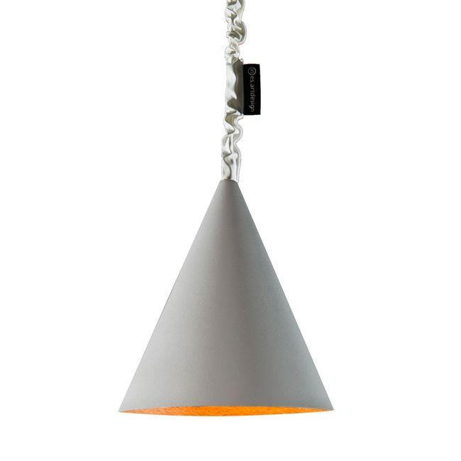 In-es Art Design JAZZ CEMENTO Lampe à suspension 1 luce E14 Ø 29 cm