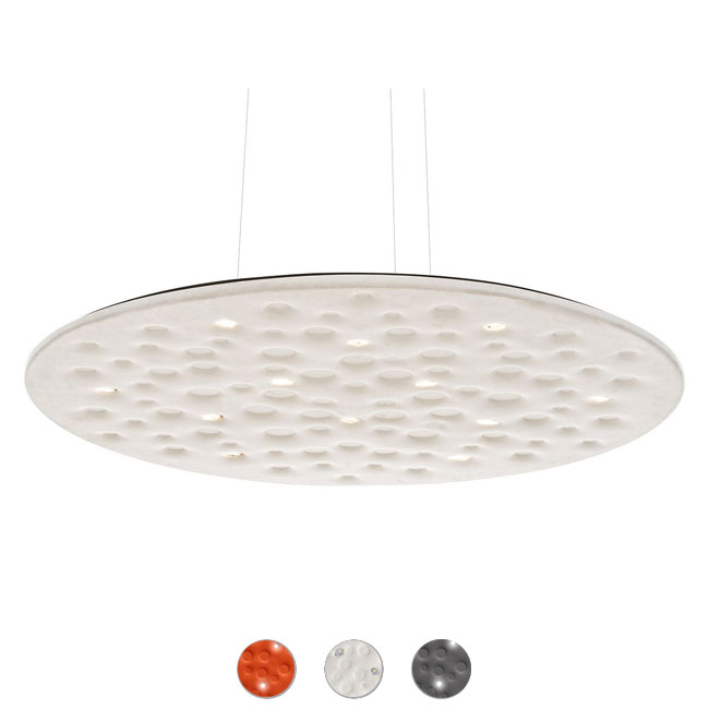 Artemide Suspension Silent Field 2.0 Direct + indirect LED 37W + 35W Ø 100 cm dimmable