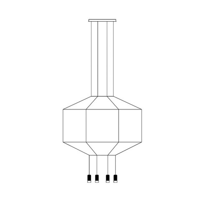 Vibia lampe à suspension Wireflow 0300 LED 36W L 120 cm dimmable