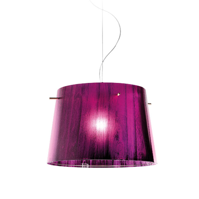 Slamp Woody suspension Purple 1 lumière E27 Ø 37 cm