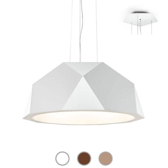 Fabbian Lampe suspension Crio Ø 57,2 cm LED 52,5W dimmable