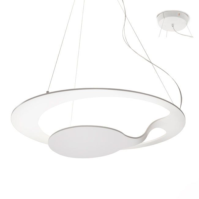 Fabbian Suspension Glu LED 34W H 100 / 260 cm Dimmable