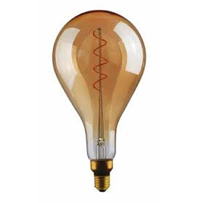 Ampoule Vintage LED Filament Curved A165 5W E27 2000K 220/240V Ø 16.5 cm or dimmable DLItalia