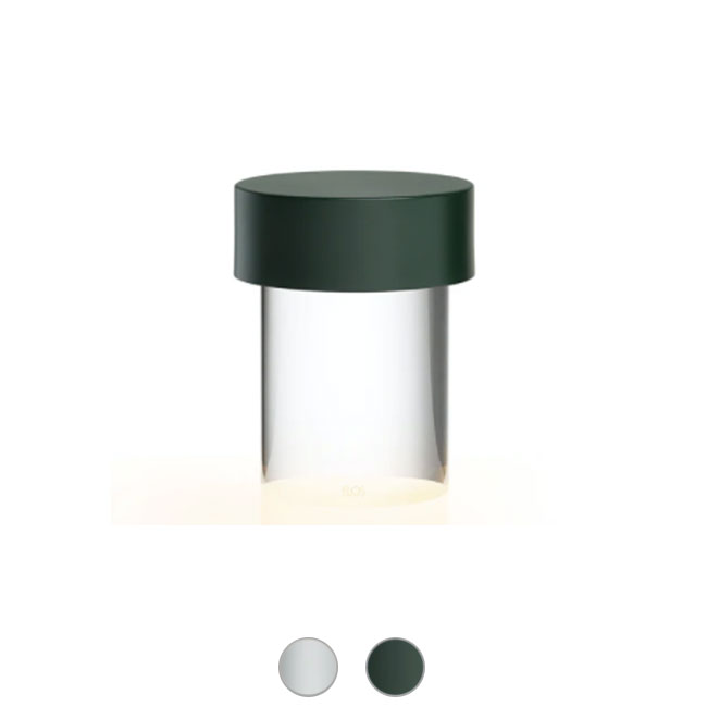 Flos Lampe de table d'extérieur rechargeable Last Order Clear LED H 14,2 dimmable