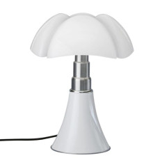 Martinelli Pipistrello Lampe de table H 66/86 cm LED 14W Blanc