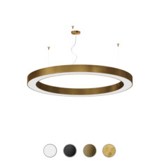 Panzeri Lampe suspension dimmable Silver Ring LED Ø 123 cm