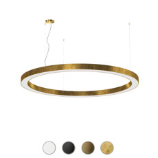 Panzeri Lampe suspension dimmable Silver Ring LED Ø 183 cm