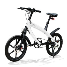 Vélo E-City V-ITA Evolution Solid avec la technologie Bluetooth-White