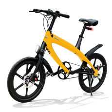 Vélo E-City V-ITA Evolution Solid avec la technologie Bluetooth-Jaune