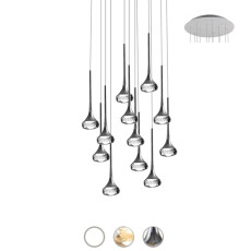 Axo Light Lampe à suspension Fairy LED 12 Luci 6,8W Ø 60 cm