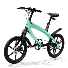 Vélo E-City V-ITA Evolution Solid avec la technologie Bluetooth-Aquamarine