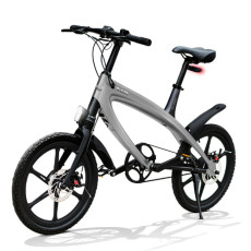Vélo E-City V-ITA Evolution Solid avec la technologie Bluetooth-Dark Grey