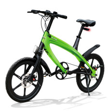 Vélo E-City V-ITA Evolution Solid avec la technologie Bluetooth-Green