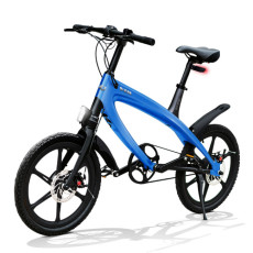 Vélo E-City V-ITA Evolution Solid avec la technologie Bluetooth-Blue