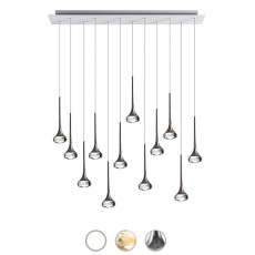 Axo Light Lampe à suspension Fairy LED 12 Luci 6,8W H 250 cm