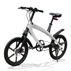 Vélo E-City V-ITA Evolution Solid avec la technologie Bluetooth-Silver