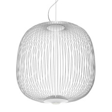 Foscarini Suspension Spokes LED Dimmable Ø 52 cm Blanc