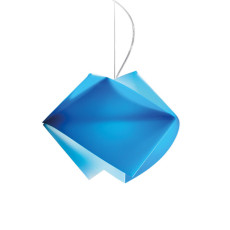 Slamp suspension Gemmy Blu 1 lumière E27 L 42 cm