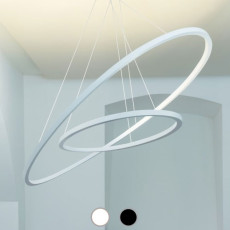 Nemo Ellisse Pendant Double Lampe à suspension LED 90W L 133 cm
