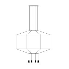 Vibia lampe à suspension Wireflow 0299 LED 36W L 150 cm dimmable