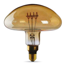Ampoule Vintage Led Filament Curved Fungo 5W E27 2000K 220/240V Ø 20 cm or dimmable DLItalia