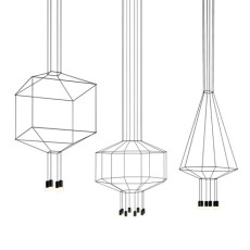 Vibia lampe à suspension Wireflow 0313 LED 18W L 30x30 cm dimmable