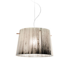 Slamp Woody Suspension Ø 37 cm 1 Ampoule Blanc