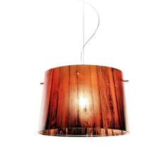 Slamp Woody suspension Orange 1 lumière E27 Ø 37 cm