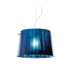 Slamp Woody suspension Blue 1 lumière E27 Ø 37 cm