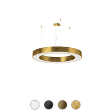 Panzeri Lampe suspension dimmable Silver Ring LED Ø 78 cm