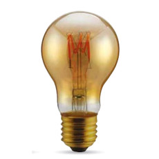 Ampoule Vintage LED Filament Curved Goccia 3W E27 2000K 220/240V Ø 6 cm or dimmable DLItalia