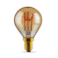 Ampoule Vintage LED Filament Curved Sfera 3W E14 2000K 220/240V Ø 4.5 cm or dimmable DLItalia