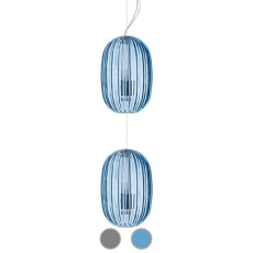 Foscarini Suspension Plass Media Double 2 lumières E27 Ø34 cm