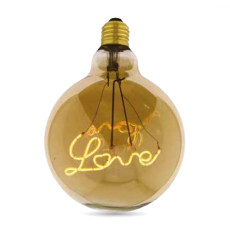 Ampoule Vintage LED Filament Curved G125 Love 5W E27 2000K 220/240V Ø 12.5 cm Or dimmable DLItalia