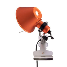 Artemide Tolomeo Micro Pinza Clamp Lamp 1 Lumiére 46W H 20 cm Halo Orange