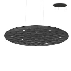 Artemide Silent Field 2.0 Suspension LED 37W Ø 100 cm Dimmable Noir