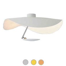 Catellani & Smith Lampe pour plafond Lederam Manta CWS1 LED 17W Ø 60 cm