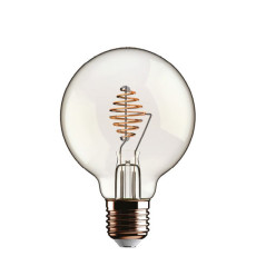 Ampoule Beauty Eddy Led Globo 2.5W E27 2700 K 220/240 V 12.5x17.5 cm Transparent dimmable DLItalia