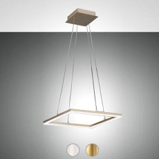 Fabas Suspension Bard LED 39W L 42x42 cm Dimmable
