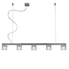 Fabbian Suspension Cubetto 5 lumières G9 L 105cm