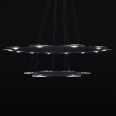 Lumen Center FLAT SATURN 2 Lampe Suspension LED 113,4W Ø 98 cm