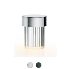 Flos Lampe de table d'extérieur rechargeable Last Order Fluted LED H 14,2 cm dimmable