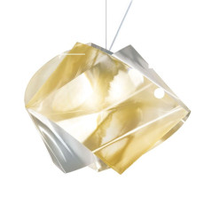 Slamp Gemmy Suspension Prisma Oro 1 lumière E27 H 34 cm
