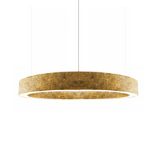 Panzeri Lampe Suspension Golden Ring LED 150W Ø 123,5 cm Dimmable Feuille d'Or