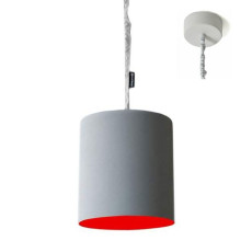 In-es Art Design BIN CEMENTO Lampe à suspension 1 luce E27 Ø 33,5 cm