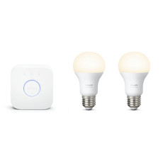 Philips Hue White Starter kit 2 ampoules + Bridge E27 9,5W Ø 6,1 cm