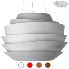 Foscarini Lampe à suspension Le Soleil 4 lumières (3 Halo + 1 LED) Ø 62 cm
