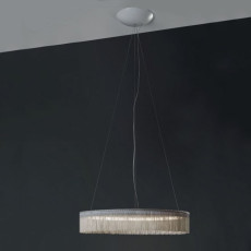 "Egoluce Suspension à franges ""chainette"" Charleston LED 27W Ø 54 cm"