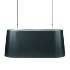 Moooi Oval Light Nero lampe suspendue L 105 cm 2 luci E27